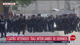 Foto: Cuatro detenidos por intercambio de balazos