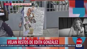 Foto: Cuerpo de Edith González llega al panteón francés