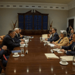 Foto: Delegaciones de EU y México durante encuentro del 5 de junio, Estados Unidos