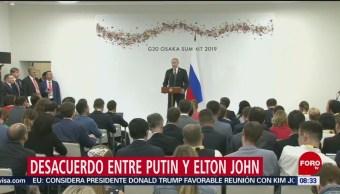 FOTO: Desacuerdo entre Putin y Elton John, 30 Junio 2019