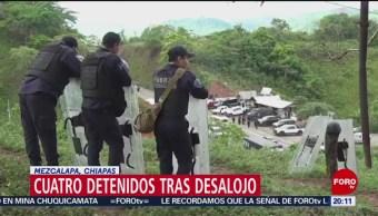 Foto: Desalojo Predio Chiapas Detenidos 14 Junio 2019