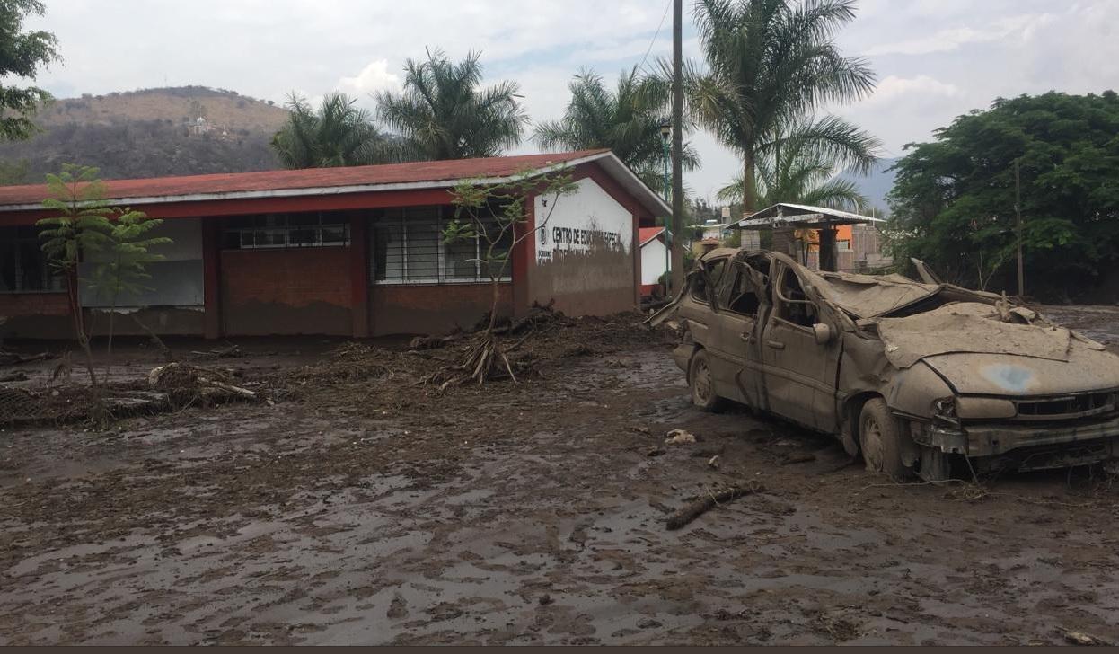 Foto: Desbordamiento río San Gabriel, Jalisco , 3 de junio 2019. Twitter @PCJalisco