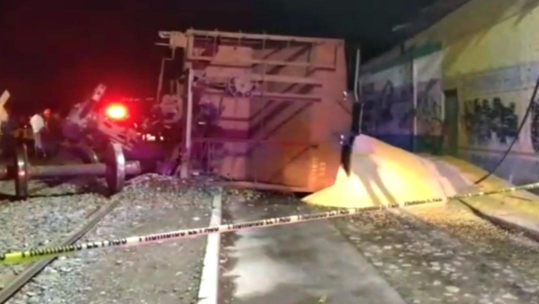 Foto: Descarrila tren en San Juan del Río, Querétaro, 27 de junio de 2019, México