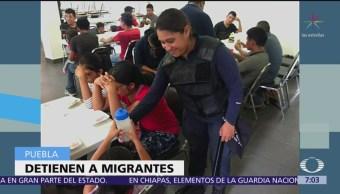 Detienen a 76 centroamericanos en Puebla