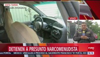 Foto: Detienen a presunto narcomenudista en Xochimilco