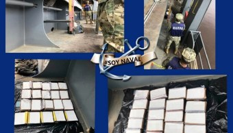 Foto: droga asegurada en Baja California, 12 de junio 2019. Twitter @SEMAR_mx