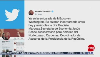 FOTO: Ebrard anuncia la delegación mexicana que llegará a Washington, 1 Junio 2019