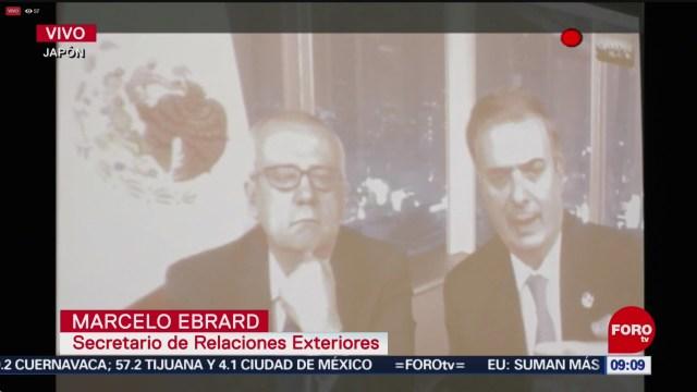 FOTO: Ebrard habla sobre su reunión con Trump en la cumbre G20, 29 Junio 2019