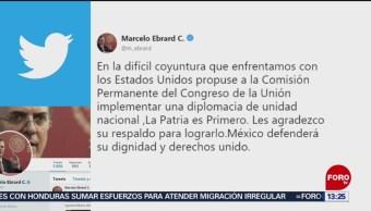 FOTO: Ebrard llama a implementar una diplomacia de unidad nacional, 16 Junio 2019