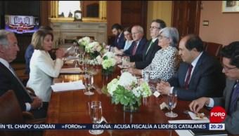 Foto: Ebrard Pelosi Ratificación T-Mec Aranceles 4 Junio 2019