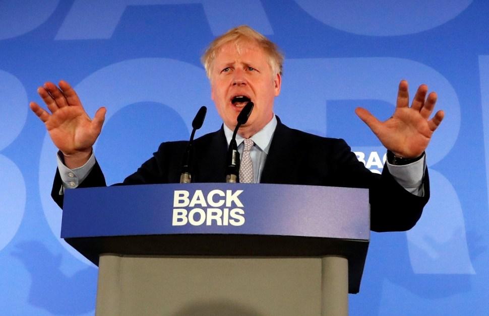 Foto: El británico Boris Johnson, 12 de junio de 2019