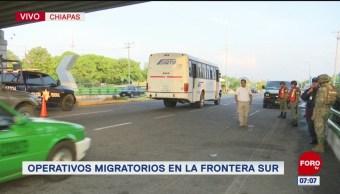 Elementos de la Marina realizan operativos migratorios en la frontera sur