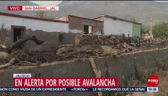 Foto: Emiten alerta por nueva avalancha en San Gabriel, Jalisco