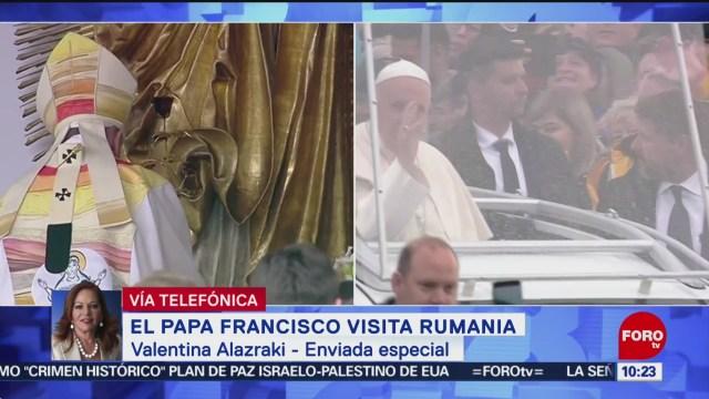 FOTO: En Rumanía el papa Francisco anima a terminar con viejos rencores, 1 Junio 2019