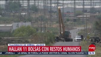 FOTO: Encuentran bolsas con cadáveres en Jalisco