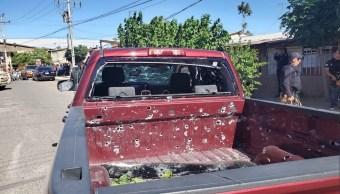 Foto: enfrentamiento en Agua Prieta, Sonora. 10 de junio 2019. Twitter @InfoSon1