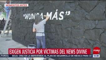 Foto: Exigen justicia por víctimas del News Divine