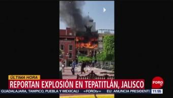 FOTO: Explosión en plaza principal de Tepatitlán cuando pipa surtía gas, 15 Junio 2019