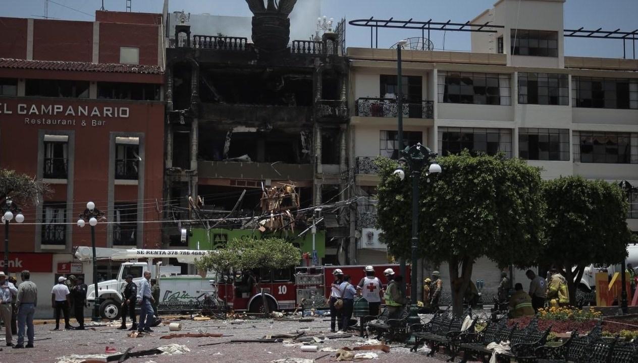Foto: Una explosión en Tepatitlán, Jalisco deja al menos 3 muertos y 21 heridos, junio 15 de 2019 (Twitter: @daviddelapaz)