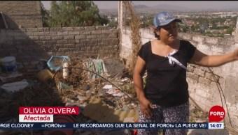 FOTO:Familias en peligro por vivir al borde de una ladera en Ecatepec, 17 Junio 2019
