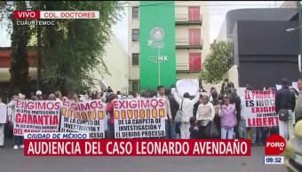 Feligreses manifiestan su apoyo al sacerdote Francisco Bautista