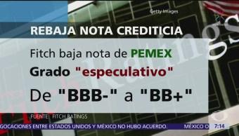 Fitch y Moody´s rebaja nota crediticia de Pemex