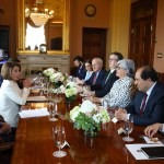 Foto: Comitivas del canciller mexicano Marcelo Ebrard y la líder demócrata Nancy Pelosi se reunieron en Washington, Estados Unidos. El 4 de junio de 2019