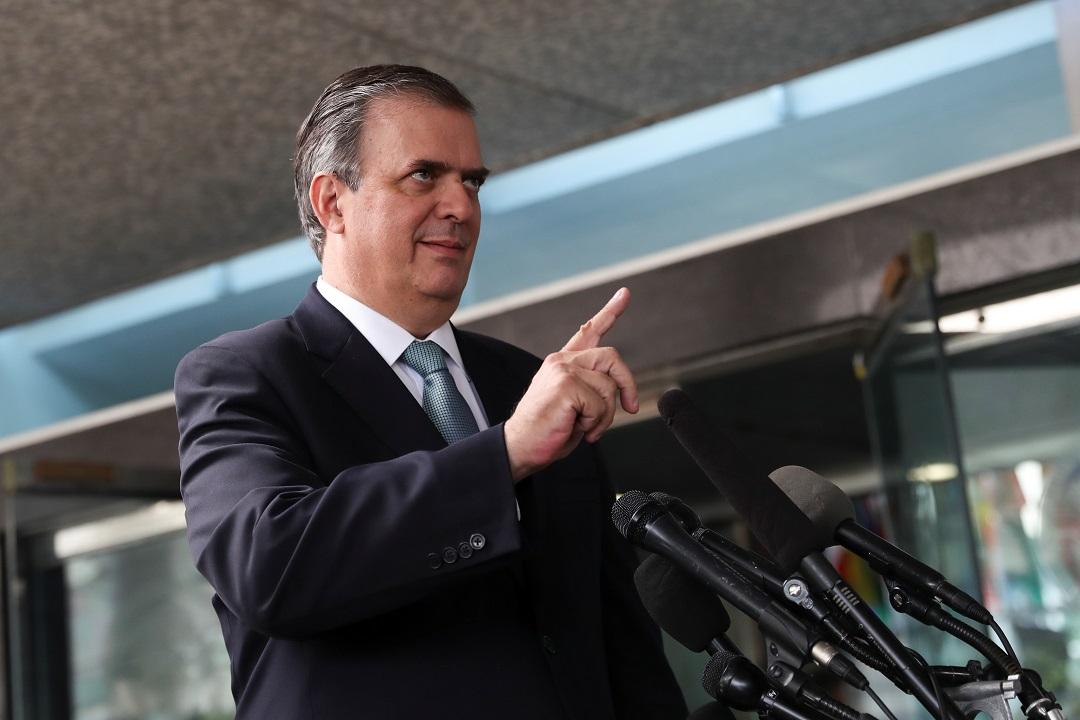 Foto: El canciller mexicano Marcelo Ebrard en conferencia de prensa. El 7 de junio de 2019