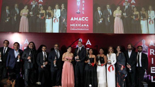 """Foto: El elenco de la película """"Roma"""" durante la 61 edición de los Premios Ariel. El 24 de junio de 2019"""