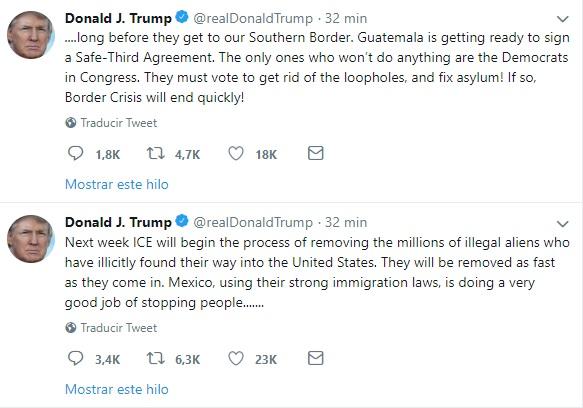 Foto: Captura de pantalla de Twitter. El 17 de junio de 2019