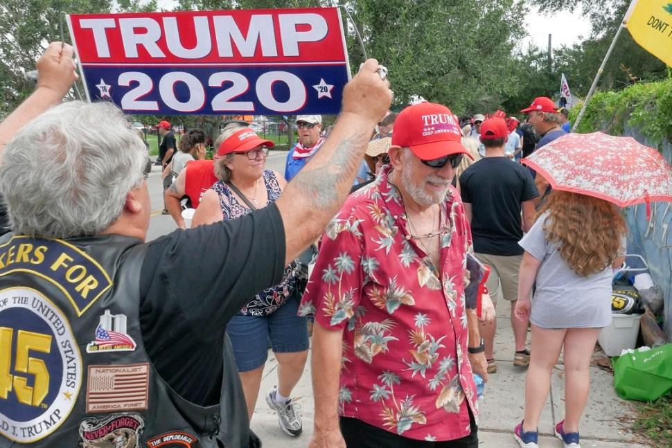 Foto: Seguidores de Donald Trump hacen fila para su mitin en Orlando, Florida, EEUU. El 18 de junio de 2019