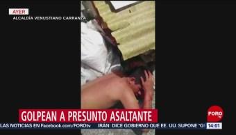 FOTO: Golpean a presunto ladrón en la alcaldía Venustiano Carranza, 16 Junio 2019