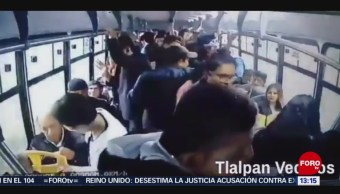 Graban asalto a transporte público en Tlalpan, CDMX