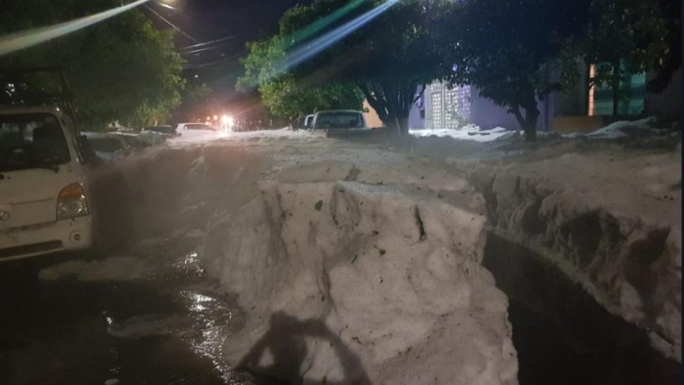 Foto: En algunos puntos del estado el granizo superó el metro de altura, 30 junio 2019