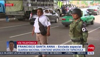 Foto: Guardia Nacional contiene migración en Tapachula