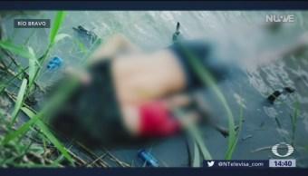 FOTO: Hallan a padre e hija migrante muertos en el Río Bravo