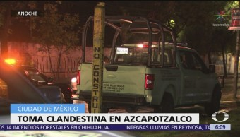 Hallan toma clandestina de combustible en Azcapotzalco, CDMX