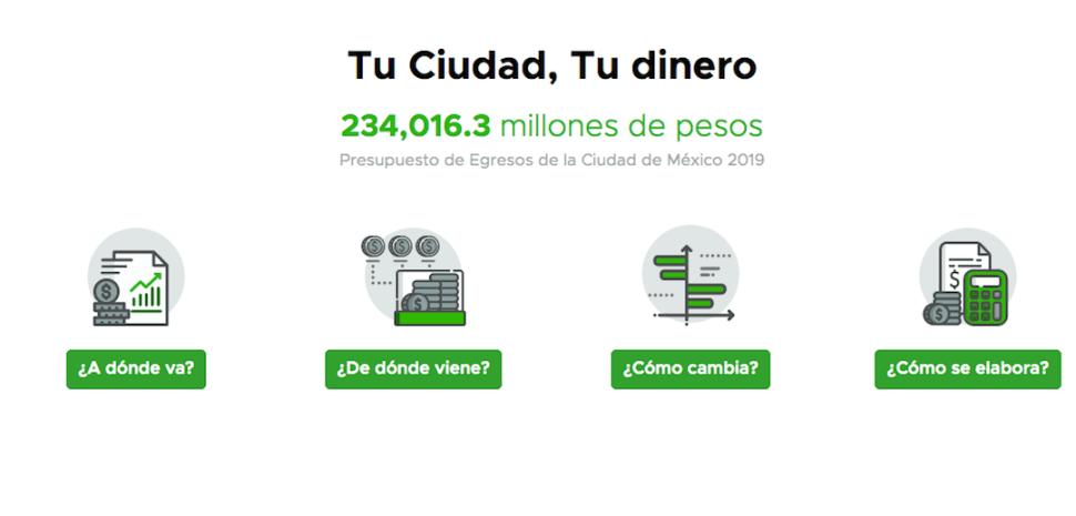 Foto Activan portal para saber cómo el gobierno gasta tu dinero 12 junio 2019