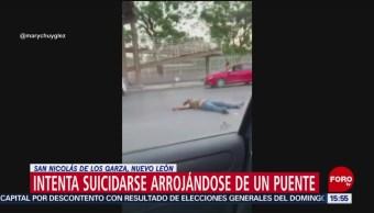 Foto: Hombre se lanza de puente en Nuevo León