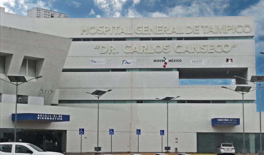 Foto: Hospital General de Tampico 'Dr. Carlos Canseco', 20 de junio 2019. Gobierno de Tamaulipas