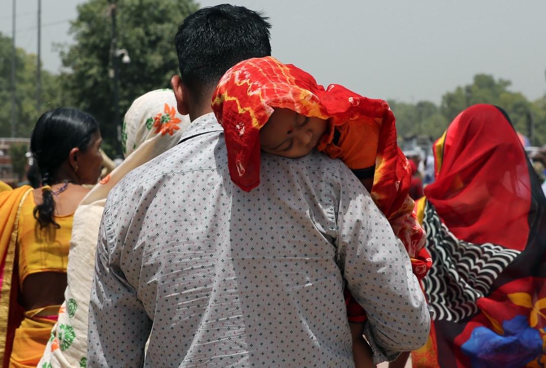Foto: Indios sufren por ola de calor, 11 de junio de 2019, India