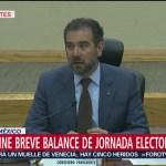 FOTO: INE realiza breve balance de jornada electoral, 2 Junio 2019