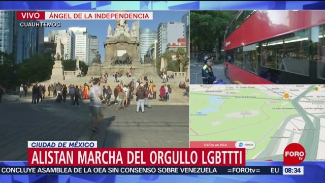 FOTO: Inician cortes a la circulación por marcha del orgullo LGBTTTI, 23 Junio 2019