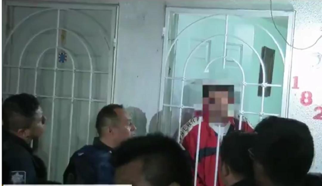 Foto: Intento de linchamiento en Puebla, 10 de junio 2019. Twitter @TelevisaPuebla