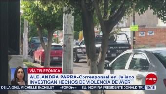 FOTO: Investigan hechos de violencia registrados ayer en Jalisco, 22 Junio 2019
