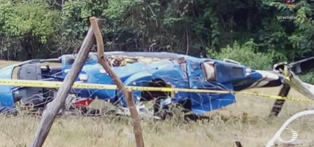 Foto: Derribó Balazos Helicóptero Sultepec Edomex 18 Junio 2019