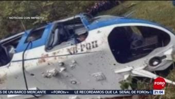 Foto: Disparos Helicóptero Edomex Sultepec 18 Junio 2019