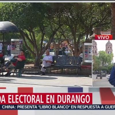 La jornada electoral en Durango
