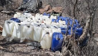 Foto: laboratorio clandestino asegurado en Culiacán, Sinaloa, 27 de junio 2019. Twitter @sspsinaloa1