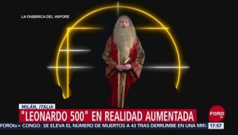 Foto: Leonardo da Vinci en realidad aumentada